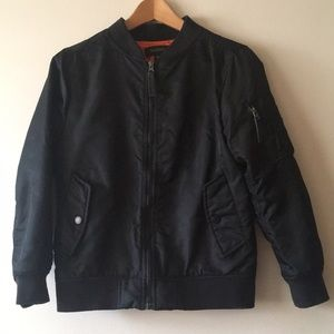 59983ec9c Boys Ring Of Fire bomber jacket. Sz L Black